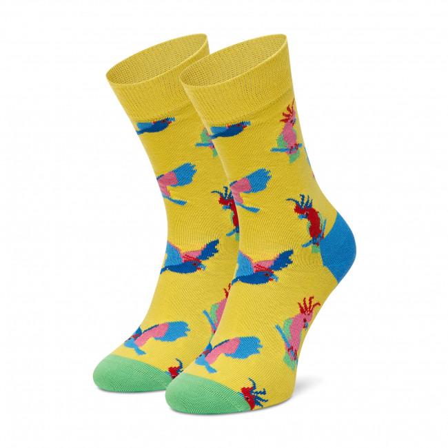 Ponožky Vysoké Unisex HAPPY SOCKS - COT01-2000 Žltá