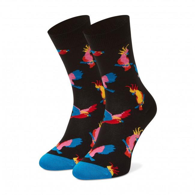 Ponožky Vysoké Unisex HAPPY SOCKS - COT01-9300 Čierna Farebná