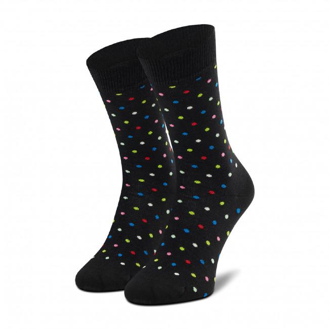 Ponožky Vysoké Unisex HAPPY SOCKS - DOT01-9400 Čierna