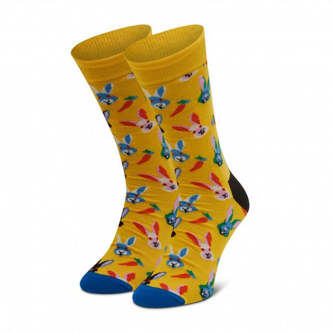 Ponožky Vysoké Unisex HAPPY SOCKS - EBS01-2200 Žltá