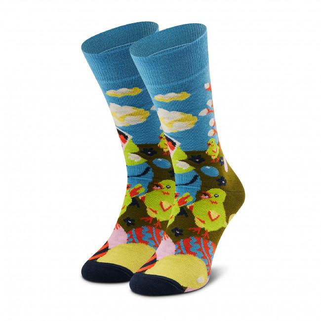 Ponožky Vysoké Unisex HAPPY SOCKS - EES01-6000 Farebná Modrá