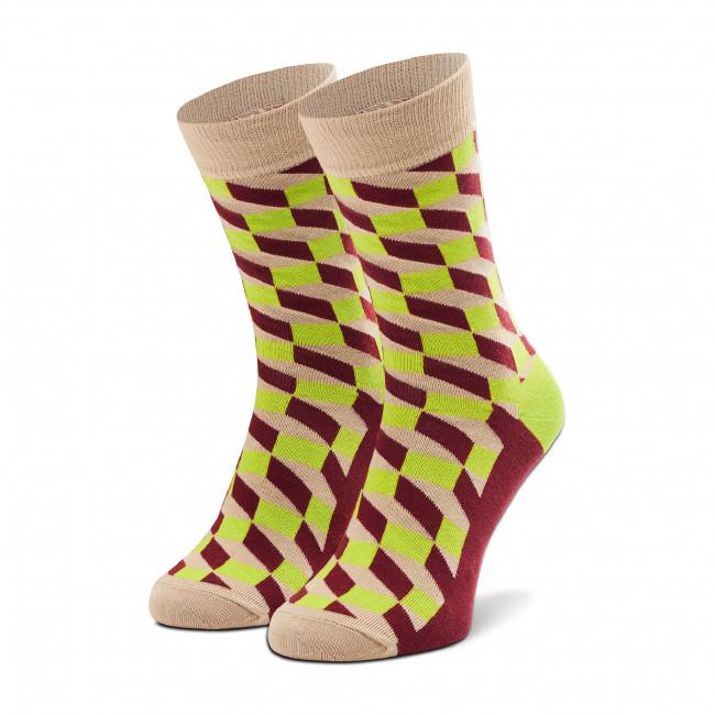 Ponožky Vysoké Unisex HAPPY SOCKS - FIO01-1700 Béžová Farebná