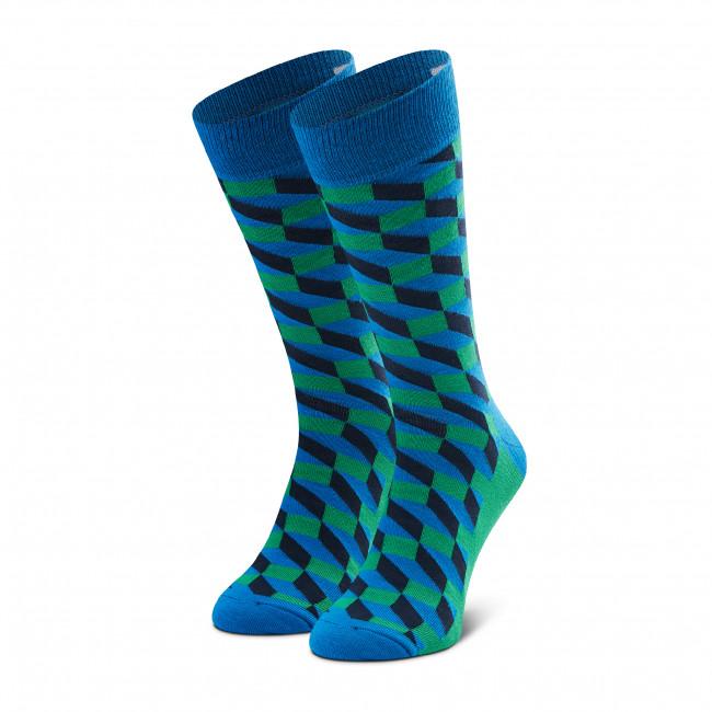 Ponožky Vysoké Unisex HAPPY SOCKS - FIO01-6400 Modrá Zelená