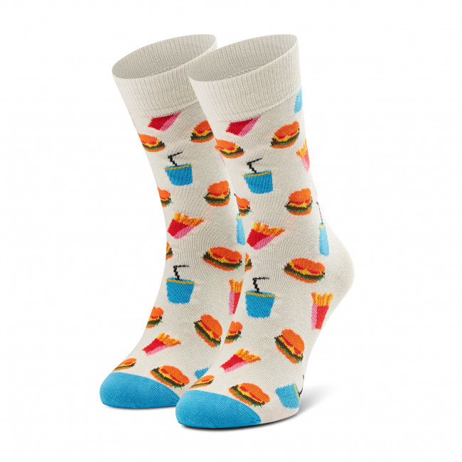 Ponožky Vysoké Unisex HAPPY SOCKS - HAM01-1300 Biela
