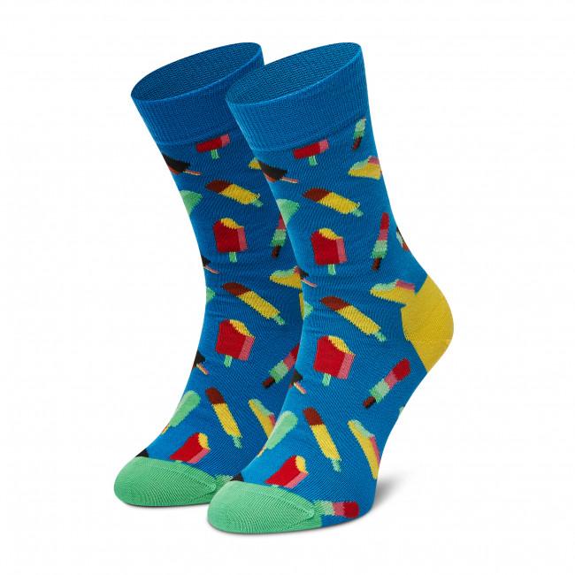 Ponožky Vysoké Dámske HAPPY SOCKS - ICE01-6700 Modrá