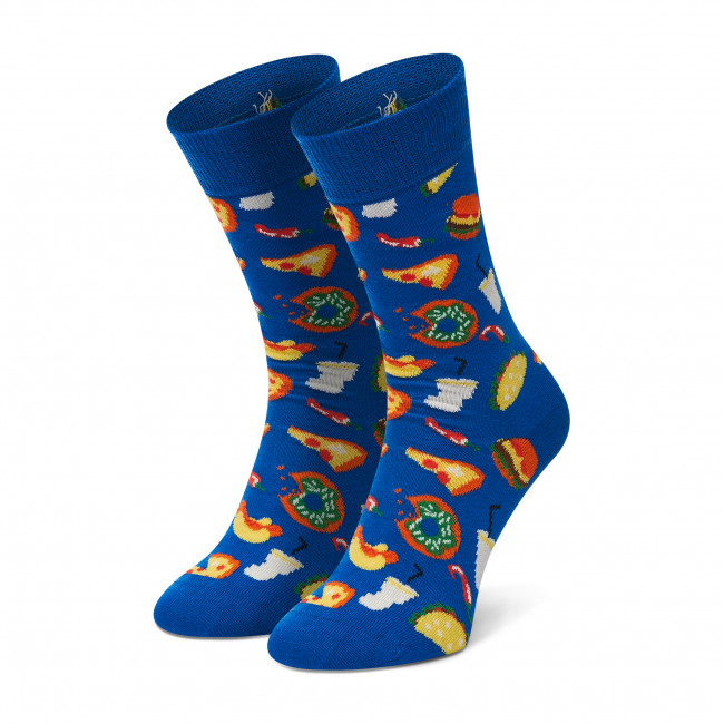 Ponožky Vysoké Dámske HAPPY SOCKS - JUN01-6300 Tmavo modrá