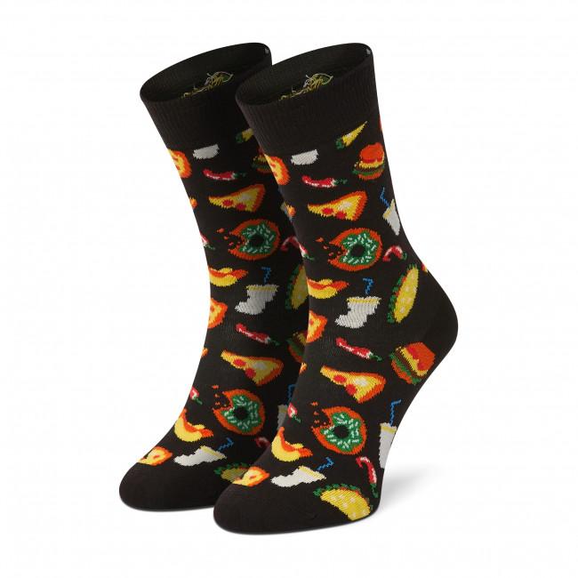 Ponožky Vysoké Dámske HAPPY SOCKS - JUN01-9300 Čierna