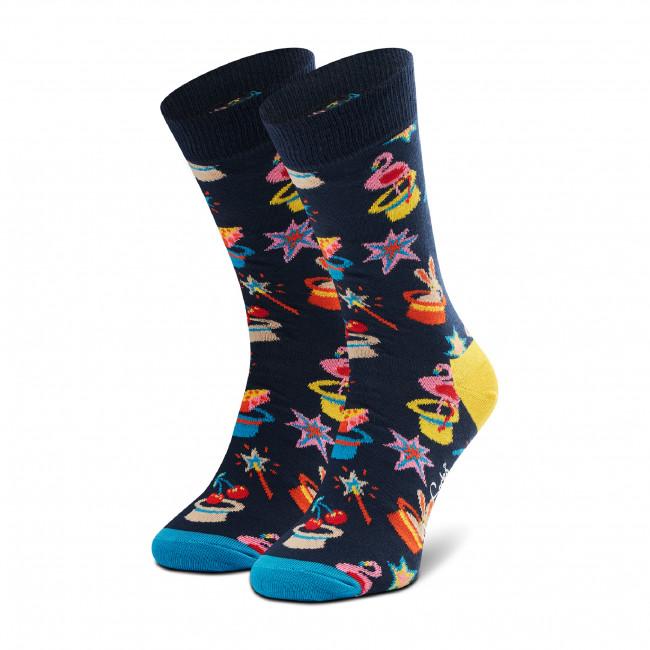 Ponožky Vysoké Unisex HAPPY SOCKS - MAG01-6500 Tmavo modrá