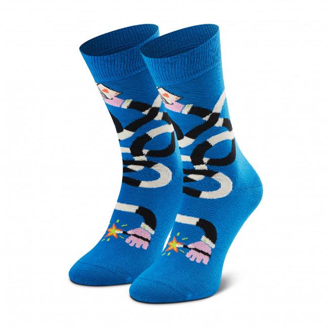 Ponožky Vysoké Unisex HAPPY SOCKS - MHA01-6300 Modrá