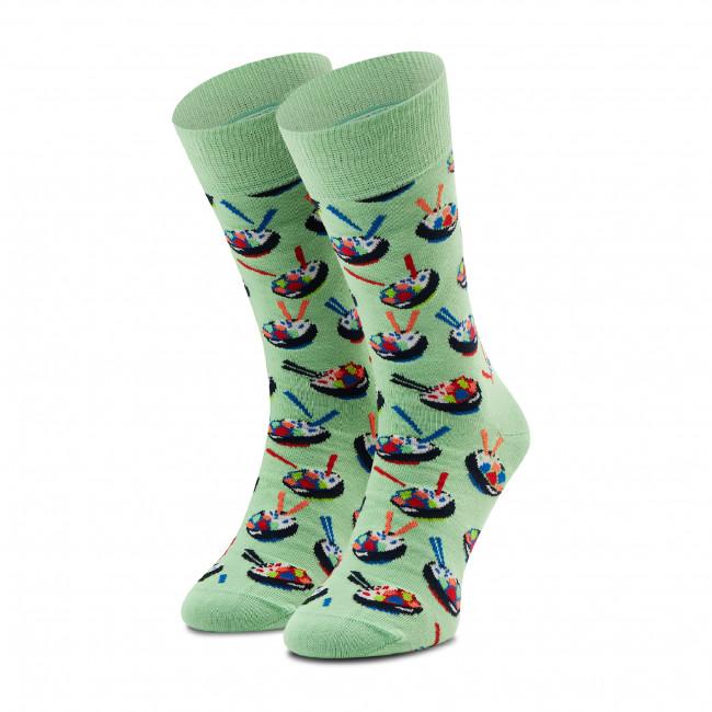 Ponožky Vysoké Unisex HAPPY SOCKS - POK01-7000 Zelená