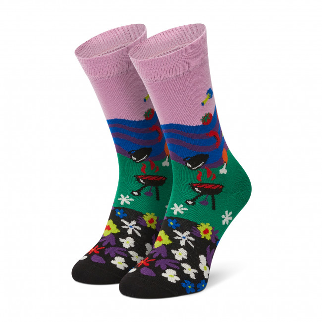 Ponožky Vysoké Dámske HAPPY SOCKS - SPA01-3300 Farebná