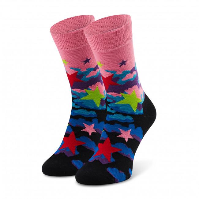 Ponožky Vysoké Dámske HAPPY SOCKS - STA01-3300 Ružová