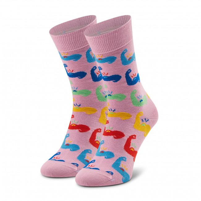 Ponožky Vysoké Dámske HAPPY SOCKS - STO01-3000 Ružová