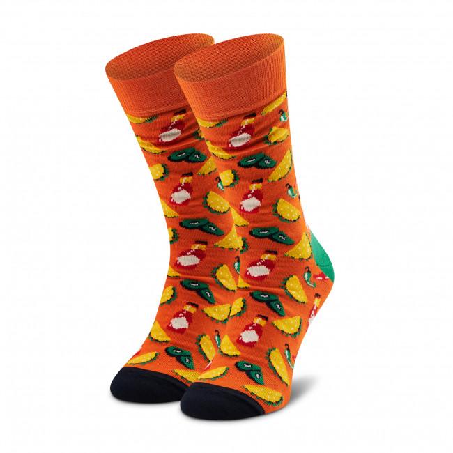 Ponožky Vysoké Unisex HAPPY SOCKS - TAC01-2700 Oranžová