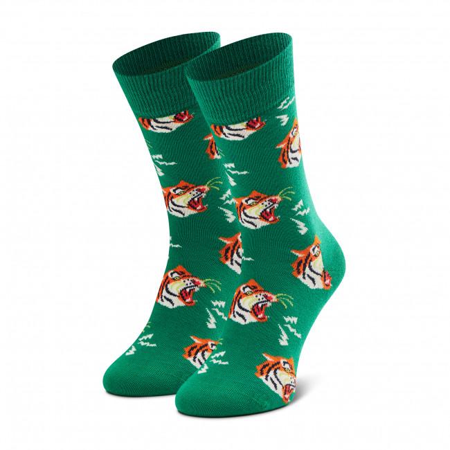 Ponožky Vysoké Unisex HAPPY SOCKS - TIG01-7300 Zelená