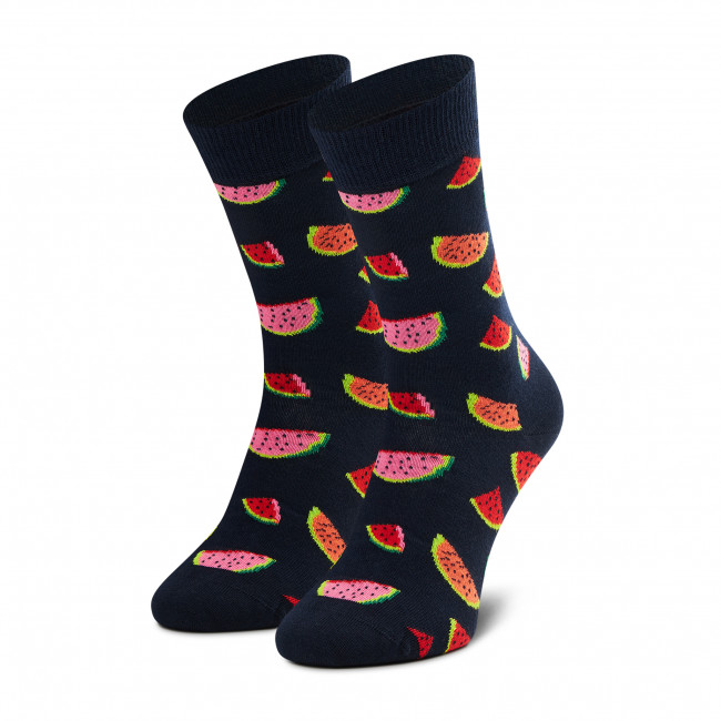 Ponožky Vysoké Unisex HAPPY SOCKS - WAT01-6600 Čierna