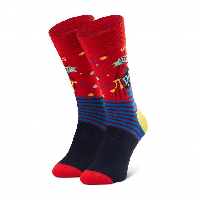 Ponožky Vysoké Unisex HAPPY SOCKS - WSD01-4300 Červená Farebná
