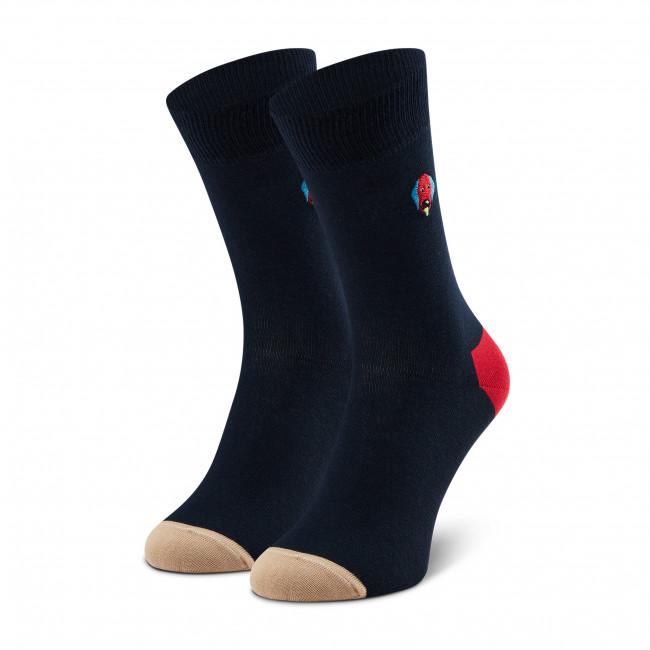 Ponožky Vysoké Unisex HAPPY SOCKS - BEDO01-6500 Tmavo modrá