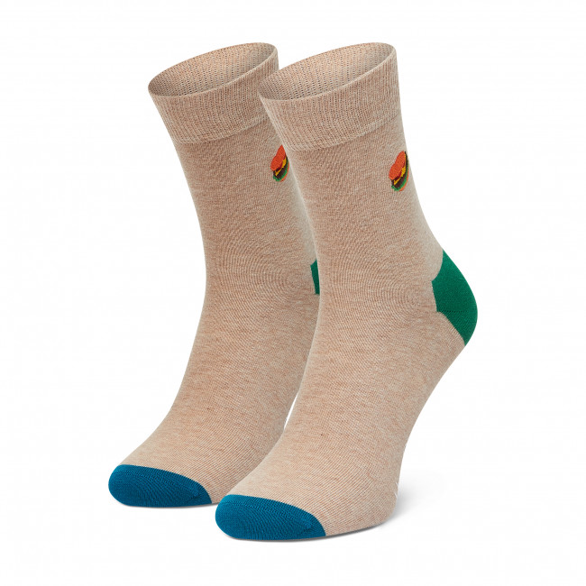 Ponožky Vysoké Unisex HAPPY SOCKS - BEHA13-1700 Sivá