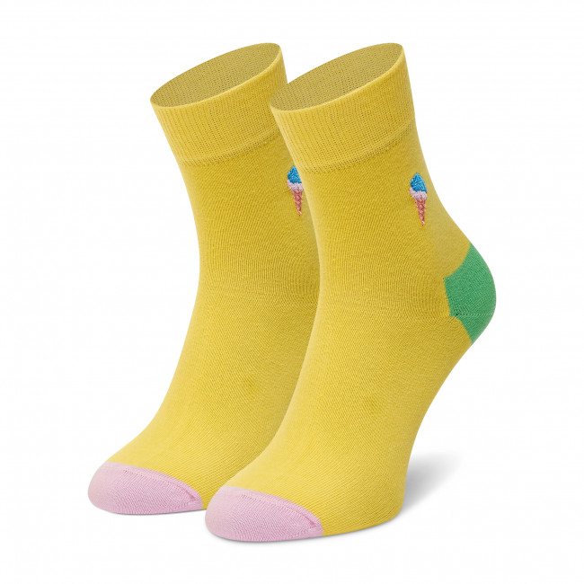 Ponožky Vysoké Dámske HAPPY SOCKS - BEIC13-2000  Žltá