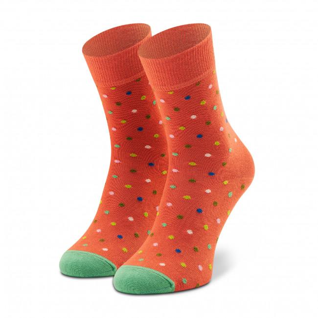 Ponožky Vysoké Unisex HAPPY SOCKS - DOT13-2700 Oranžová