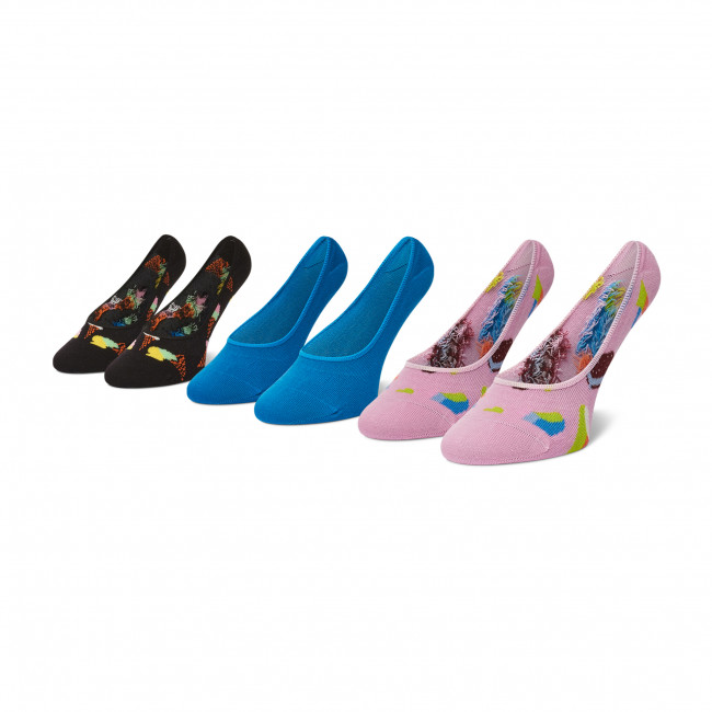 Súprava 3 párov kotníkových ponožiek dámských HAPPY SOCKS - ICE18-3300 Farebná