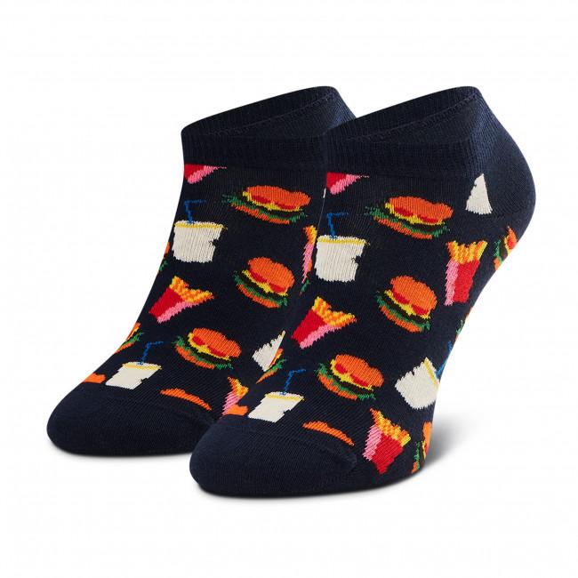 Súprava 2 párov kotníkových ponožiek unisex HAPPY SOCKS - JUN02-6300 Čierna Modrá
