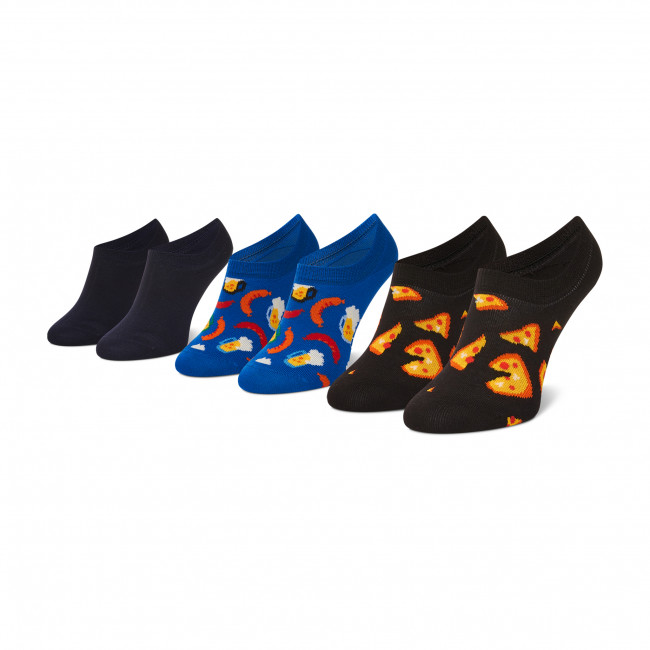 Súprava 3 párov kotníkových ponožiek dámských HAPPY SOCKS - JUN39-9300 Farebná