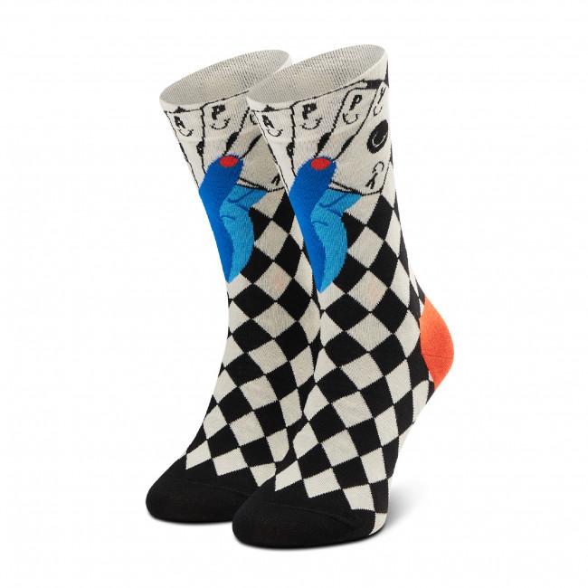 Ponožky Vysoké Unisex HAPPY SOCKS - LUC01-9100 Čierna Farebná