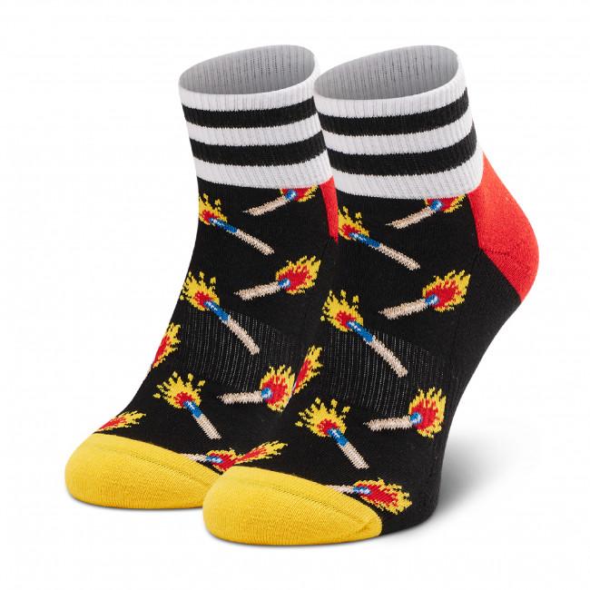Ponožky Vysoké Unisex HAPPY SOCKS - ATMAT13-9300 Čierna