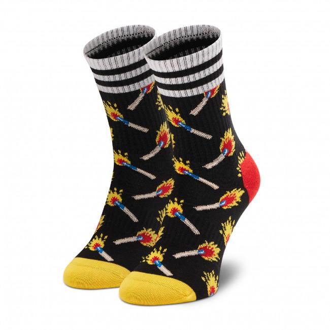 Ponožky Vysoké Unisex HAPPY SOCKS - ATMAT14-9300 Čierna