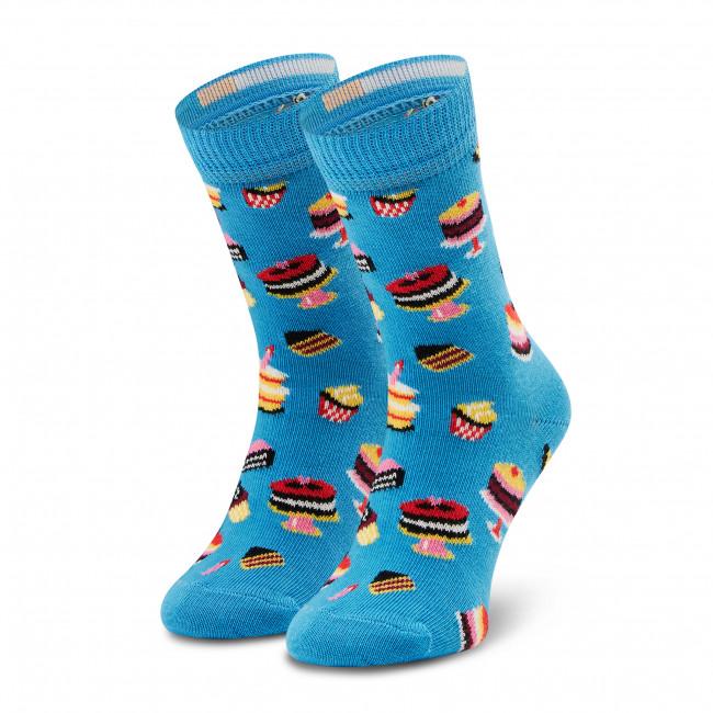 Ponožky Vysoké Detské HAPPY SOCKS - KBCA01-6000 Farebná Modrá