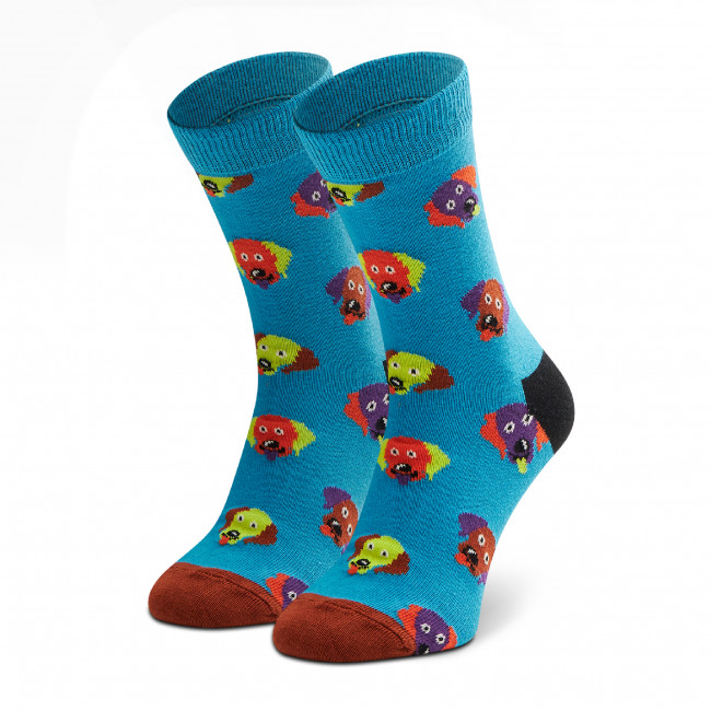 Ponožky Vysoké Detské HAPPY SOCKS - KDOG01-6300 Modrá
