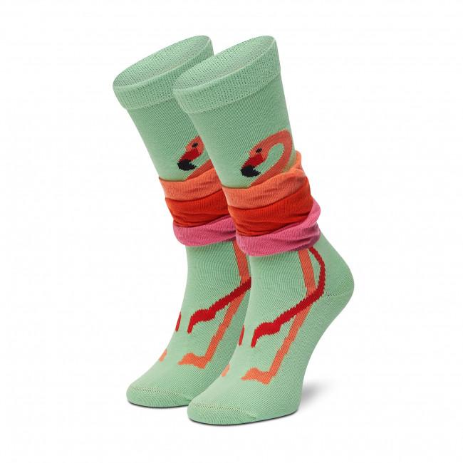 Ponožky Vysoké Dámske HAPPY SOCKS - KFLA03-0200 Farebná Zelená