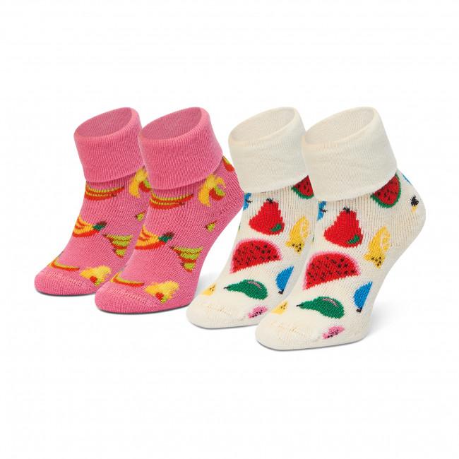 Súprava 2 párov vysokých ponožiek detských HAPPY SOCKS - KFRU45-1300 Farebná