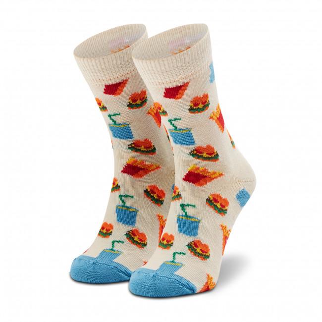 Ponožky Vysoké Detské HAPPY SOCKS - KHAM01-1300 Biela Farebná