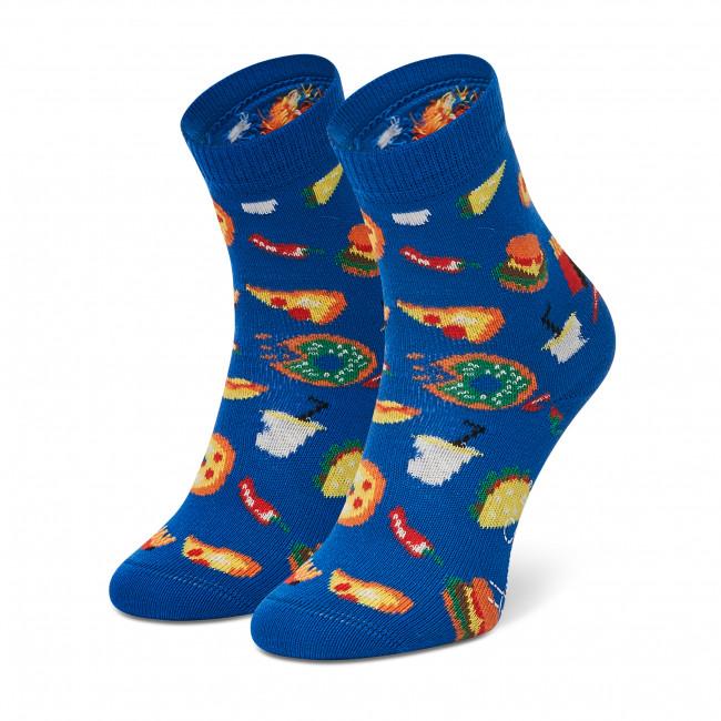 Ponožky Vysoké Detské HAPPY SOCKS - KJUN01-6500 Tmavo modrá