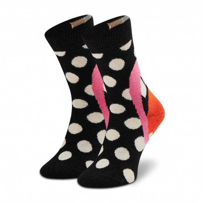 Ponožky Vysoké Detské HAPPY SOCKS - KLAU01-0200 Čierna