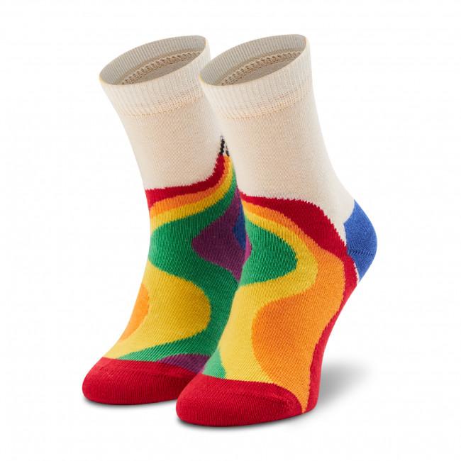 Ponožky Vysoké Detské HAPPY SOCKS - KPRC01-1300 Biela Farebná