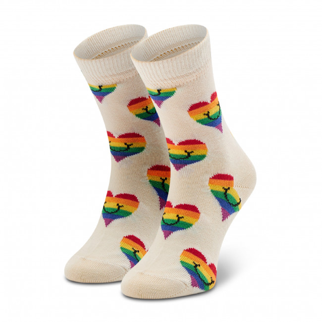 Ponožky Vysoké Detské HAPPY SOCKS - KPRS01-1300 Biela