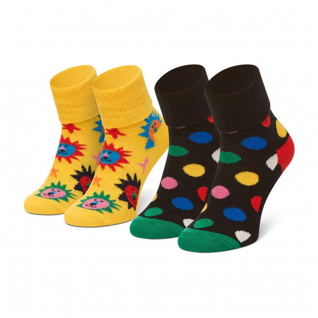 Súprava 2 párov vysokých ponožiek detských HAPPY SOCKS - KLI019-2200 Farebná