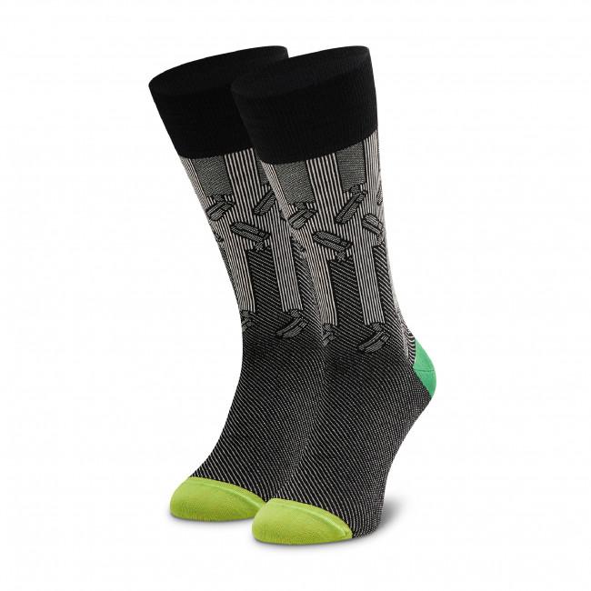 Ponožky Vysoké Pánske HAPPY SOCKS - DRLGS34-9000 Čierna