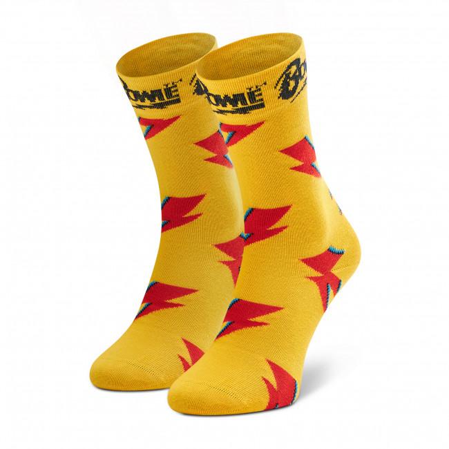 Ponožky Vysoké Unisex HAPPY SOCKS - BOW01-2200 Žltá