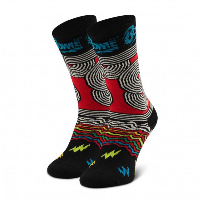 Ponožky Vysoké Unisex HAPPY SOCKS - BOW01-9301 Čierna Farebná