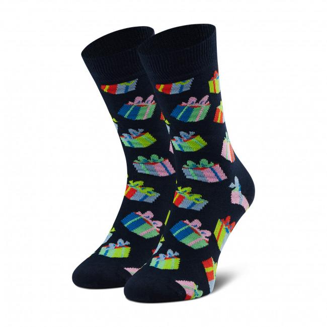 Ponožky Vysoké Unisex HAPPY SOCKS - BGS01-6500 Farebná Tmavo modrá