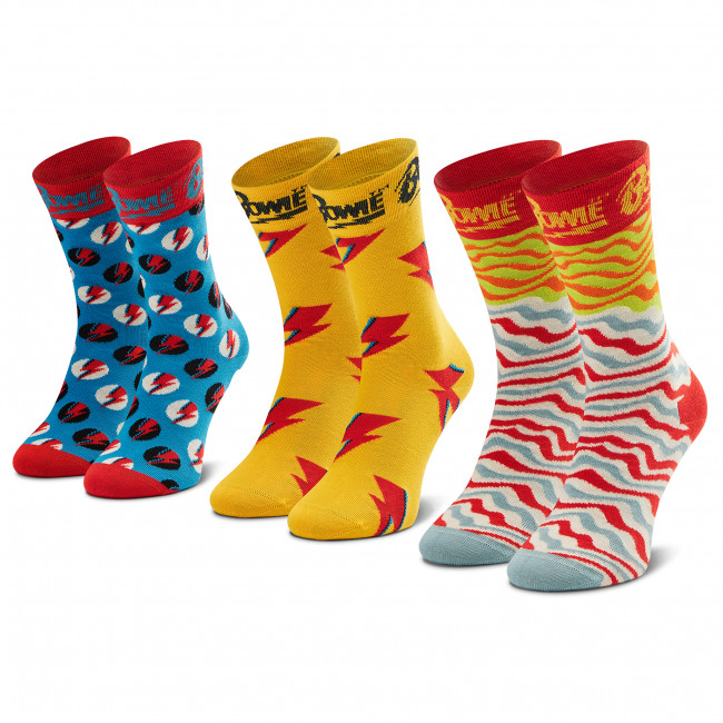 Súprava 3 párov vysokých ponožiek unisex HAPPY SOCKS - XBOW08-4300 Farebná