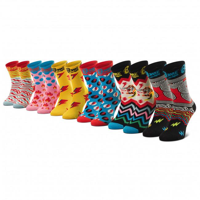 Súprava 6 párov vysokých  ponožiek unisex HAPPY SOCKS - XBOW10-0200 Farebná