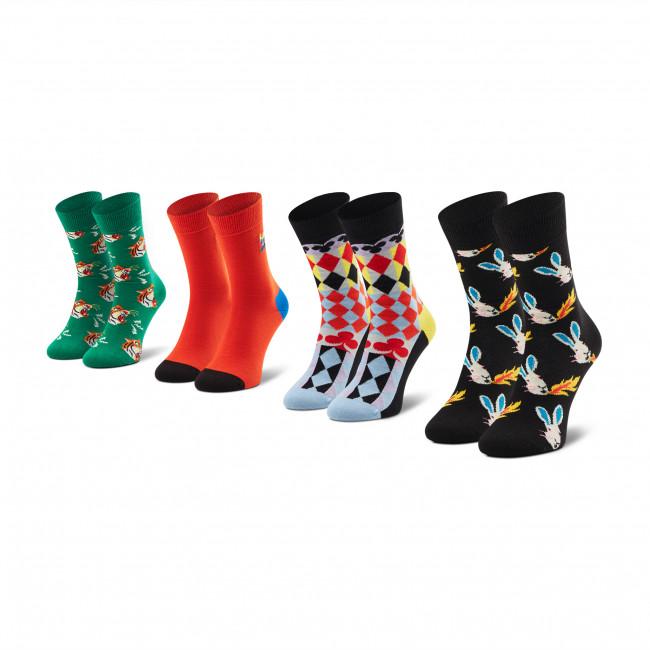 Súprava 4 párov vysokých ponožiek unisex HAPPY SOCKS - XCIR09-7300 Farebná