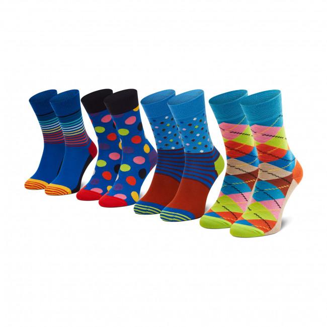Súprava 4 párov vysokých ponožiek unisex HAPPY SOCKS - XCMC09-0200 Farebná