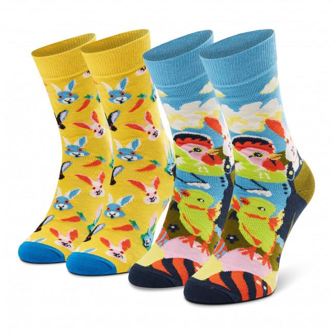 Súprava 2 párov kotníkových ponožiek unisex HAPPY SOCKS - XEAS02-2200 Farebná